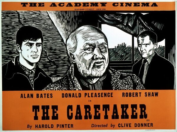 HAROLD PINTER'S THE CARETAKER Alan Bates Donald Pleasence Robert Shaw