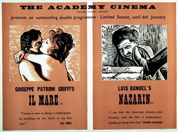Academy Poster for Il Mare (Giuseppe Patroni Griffi, 1963) and Nazarin (Luis Bunuel, 1958) Double Bill