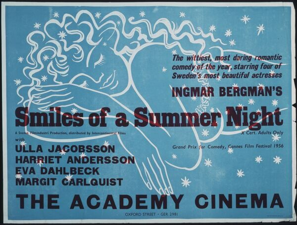 Academy Poster for Ingmar Bergman's Smiles of a Summer Night (1955)