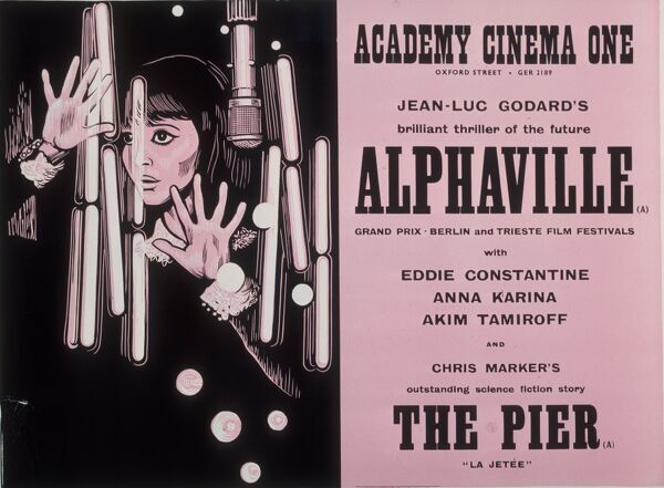 Academy Poster for Jean-Luc Godard's Alphaville (1965). © Estate of Peter Strausfeld