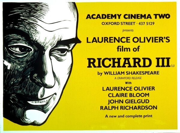 Academy Poster William Shakespeare Laurence Olivier Claire Bloom John Gielgud Ralph Richardson