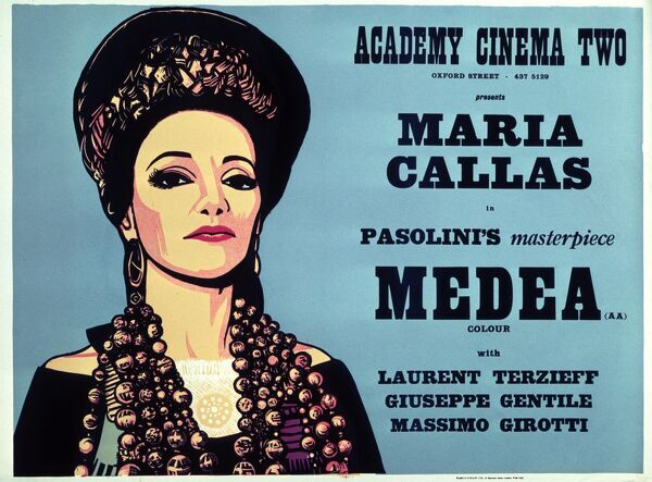 Pier Paolo Pasolini's Medea (1970) Academy Poster