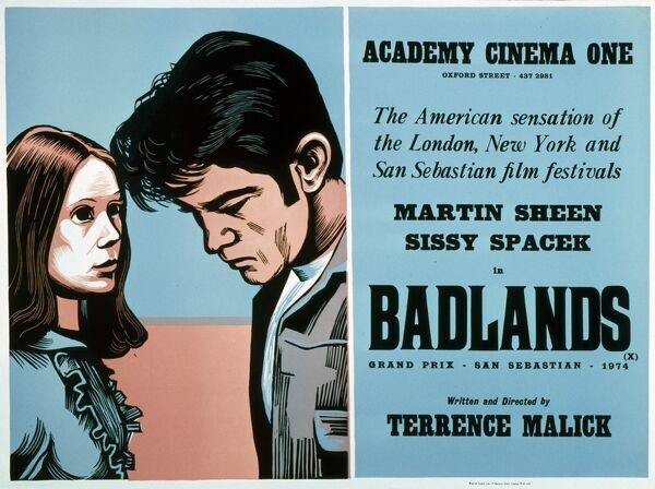 Academy Poster Terrence Malick's Badlands (1973) Martin Sheen Sissy Spacek
