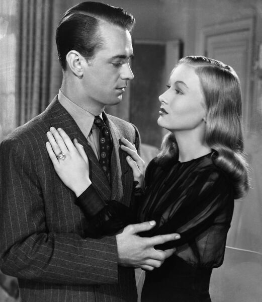 Alan Ladd and Veronica Lake in Stuart Heisler's The Glass Key (1942)