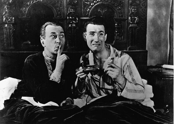 Ben Wrigley and Richard Thorpe in Robert Jordan Hill's Melody in the Dark (1949)