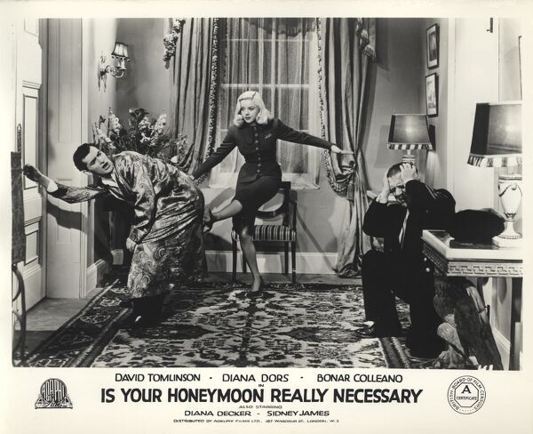 Bonar Colleano and Diana Dors in Maurice Elvey's Is Your Honeymoon Really Necessary (1953)