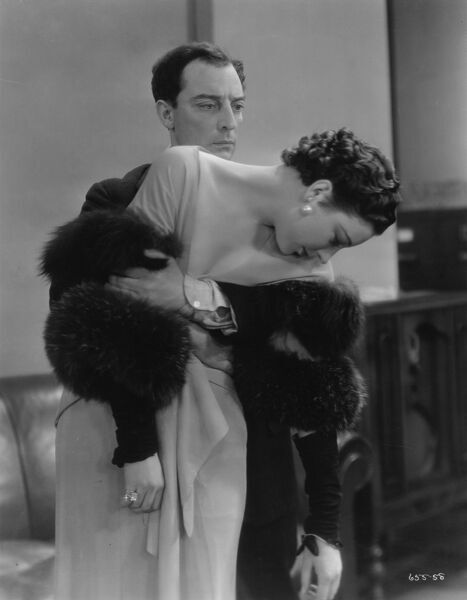 Buster Keaton and Phyllis Barry in What! No Beer' (1933)