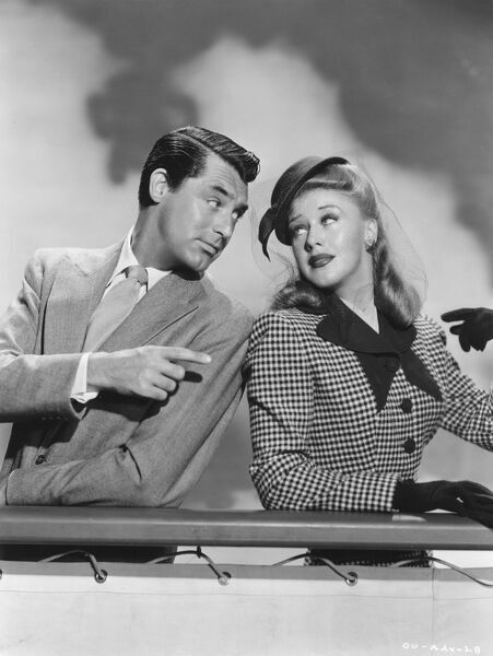 Cary Grant and Ginger Rogers in Leo McCarey's Once Upon A Honeymoon (1942)