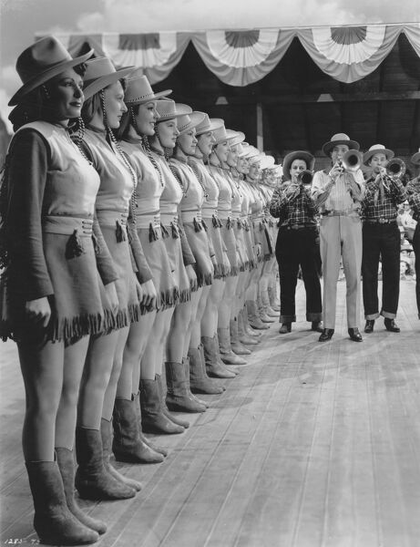 The Chorus Line from Norman Taurog's Girl Crazy (1943)