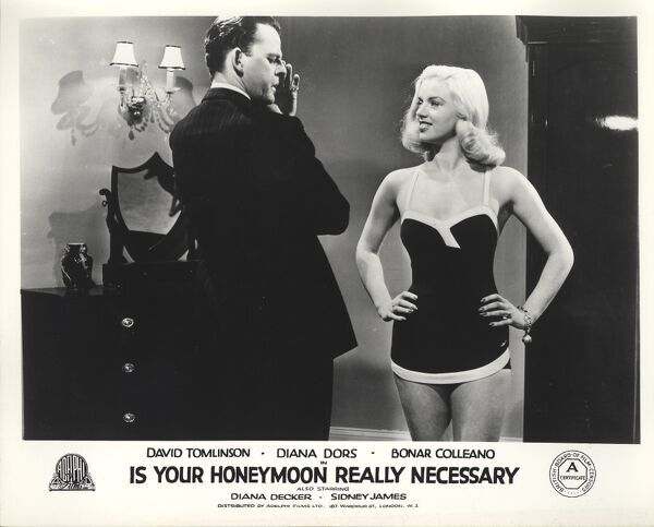 David Tomlinson and Diana Dors in Maurice Elvey's Is Your Honeymoon Really Necessary (1953)