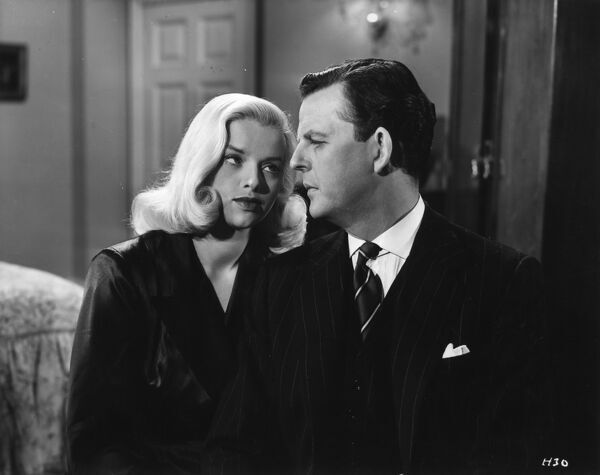 Diana Dors and David Tomlinson in Maurice Elvey's Is Your Honeymoon Really Necesary' (1953)