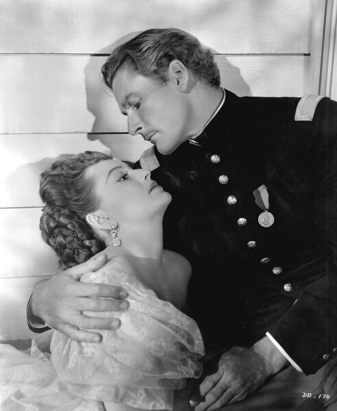 Errol Flynn and Olivia De Havilland