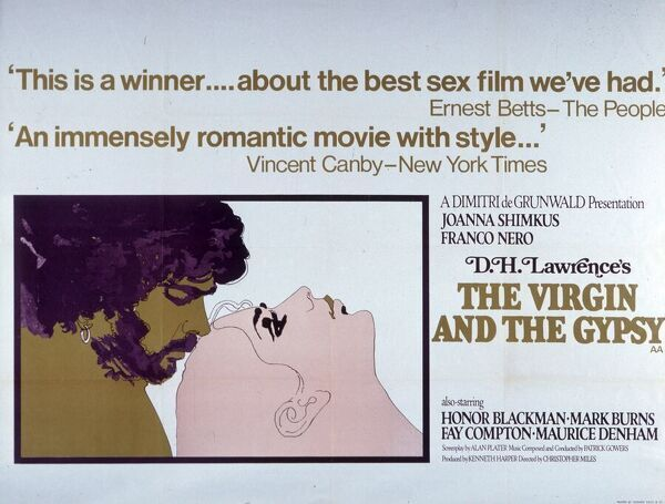 """This is a winner... about the best sex film we've had."" ""An immensely romantic movie with style..."" Joanna Shimkus Franco Nero DH Lawrence Honor Blackman, Mark Burns, Fay Compton, Maurice Denham"