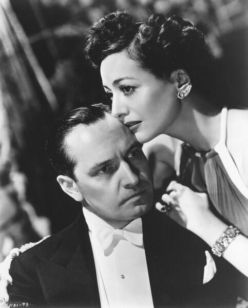 Frederic March and Joan Crawford