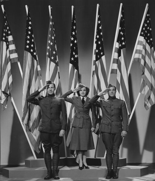 George Murphy, Judy Garland, and Gene Kelly in Busby Berkeley's For Me And My Girl (1942)