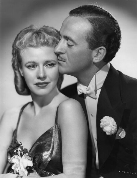 Ginger Rogers and David Niven