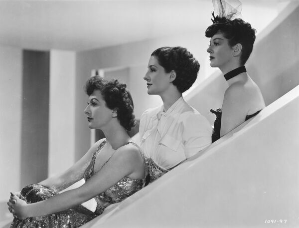 Joan Crawford, Norma Shearer, and Rosalind Russell