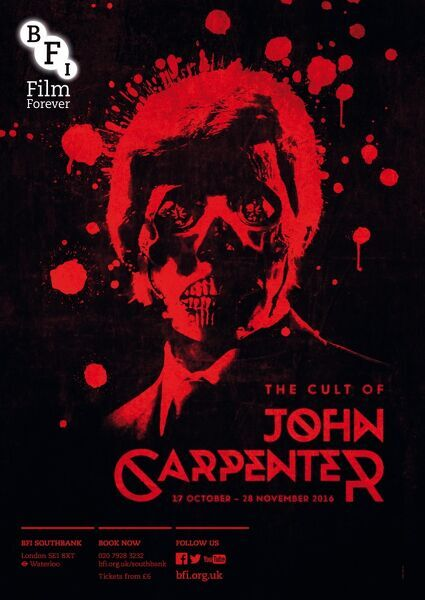 Poster for John Carpenter Season at BFI Southbank (17 October - 28 November 2016)
