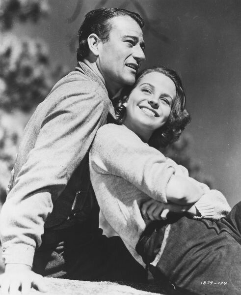 John Wayne and Betty Field