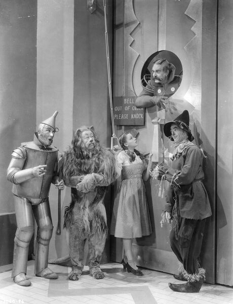 Judy Garland, Ray Bolger, Bert Lahr, and Jack Haley in Victor Fleming's The Wizard Of Oz (1939)