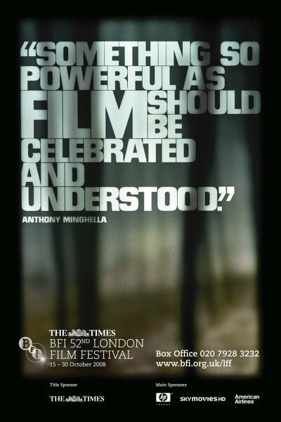 Poster for the 52nd London Film Festival - 2008 Anthony Mighella