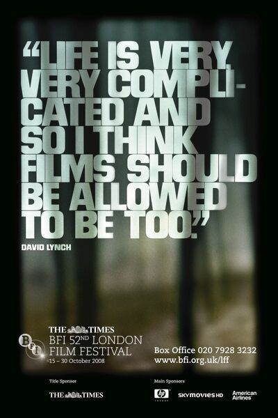 Poster from the 52nd London Film Festival - 2008 David Lynch