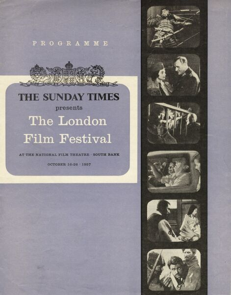 Poster from the 1st London Film Festival - 1957
