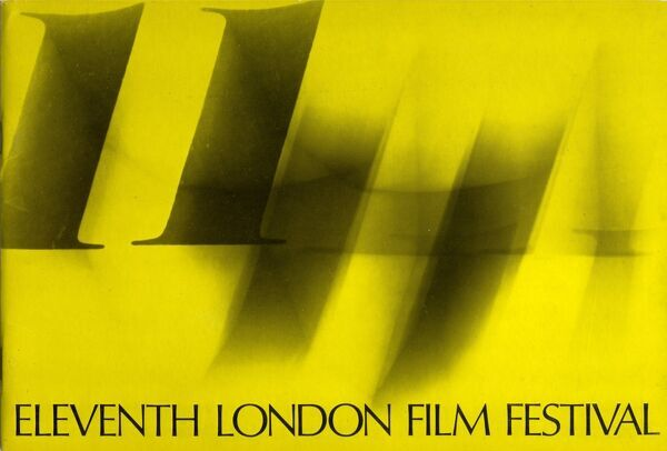 Poster from the 11th London Film Festival - 1967