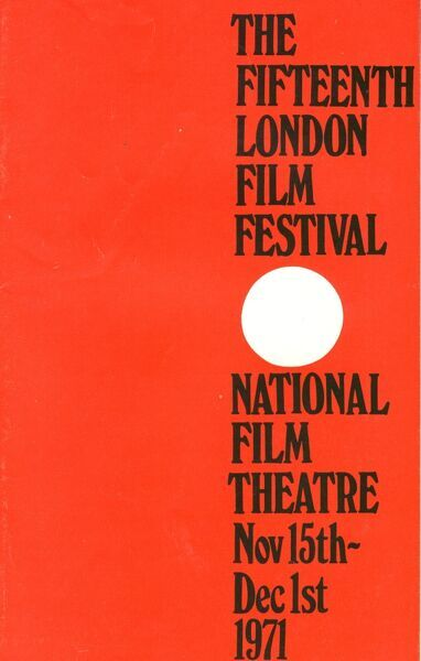 Poster from the 15th London Film Festival - 1971