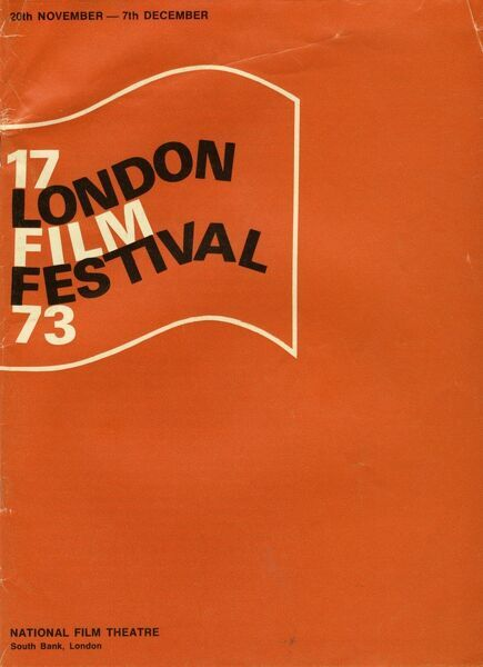 Poster from the 17th London Film Festival - 1973