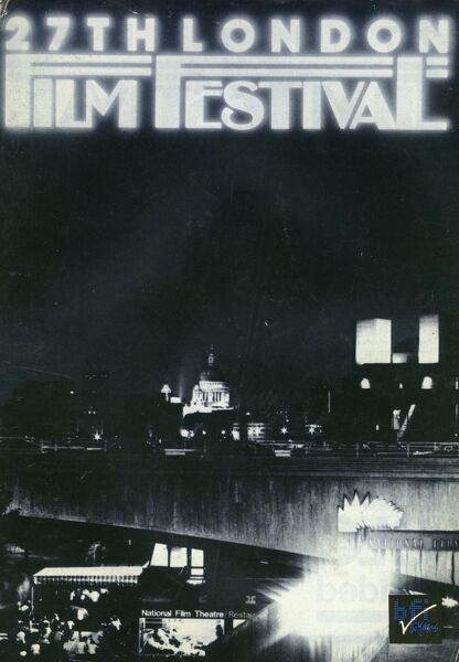 Poster from the 27th London Film Festival - 1983