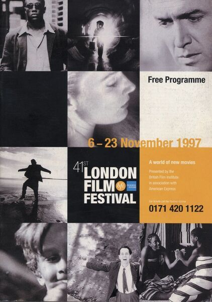 Poster from the 41st London Film Festival - 1997