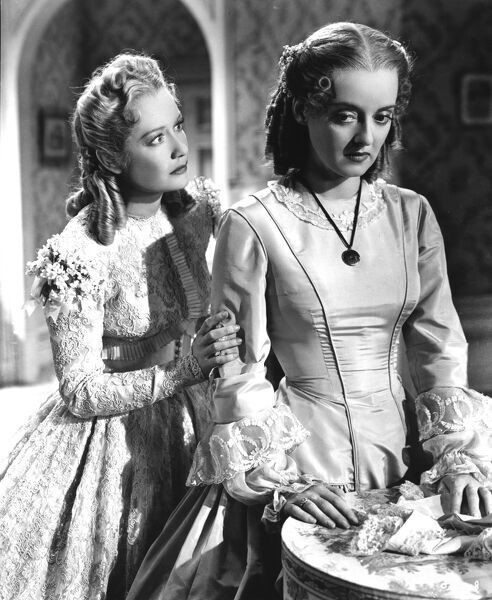 Miriam Hopkins and Bette Davis