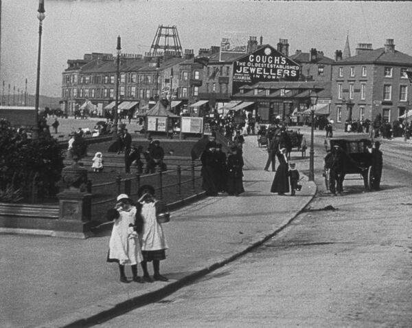 MITCHELL AND KENYON 251 MORECAMBE PROMENADE AND WINTER GARDENS 1901