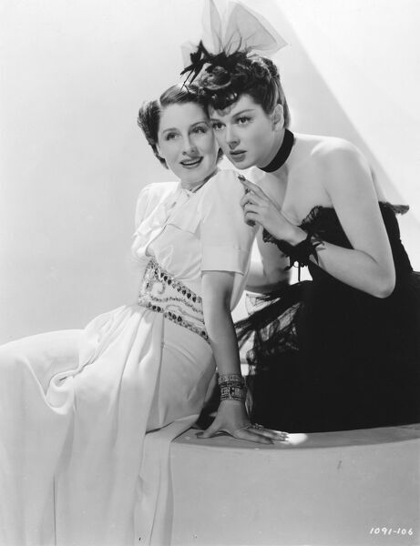Norma Shearer and Rosalind Russell