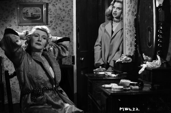 Olive Sloane and Diana Dors in My Wife's Lodger (1952)