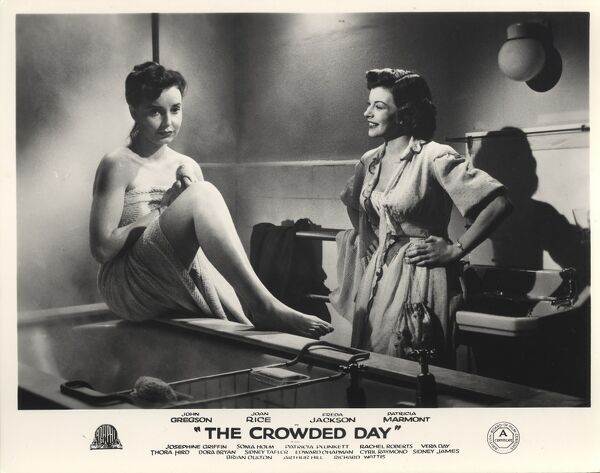 Patricia Plunkett and Joan Rice in The Crowded Day (1954) AKA SHOP SOIILED AKA TOMORROW IS SUNDAY