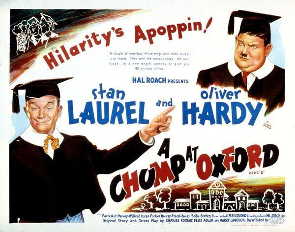 "Hal Roach Stan Laurel Oliver Hardy ""Hilarity's Apoppin!&quot"
