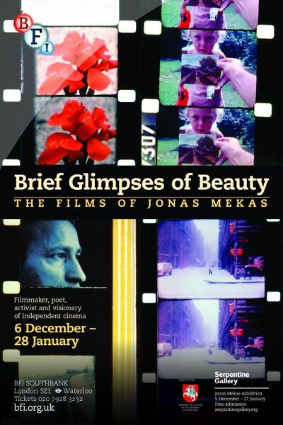 Poster for Brief Glimpse Of Beauty (The Films Of Jonas Mekas) Season at BFI Southbank (6 December 2012 - 28 January 2013)
