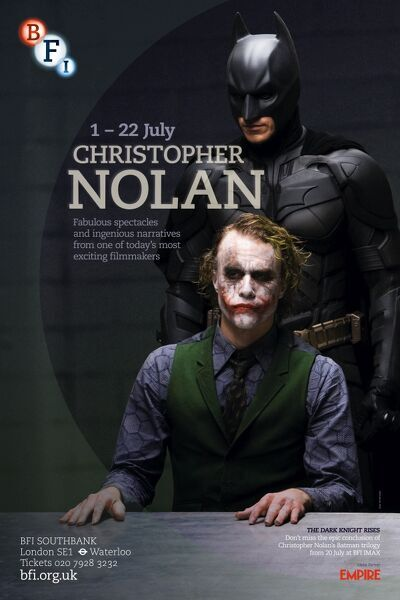 Poster for Christopher Nolan Season at BFI Southbank (1 - 22 July 2012)
