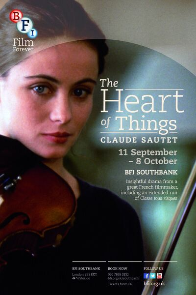 Poster for Claude Sautet Season (The Heart Of Things) at BFI Southbank (11 September - 8 October 2013)