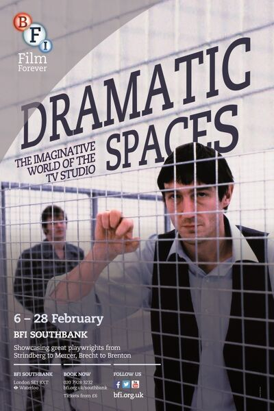 Poster for Dramatic Spaces Season at BFI Southbank (6-28 February 2014)