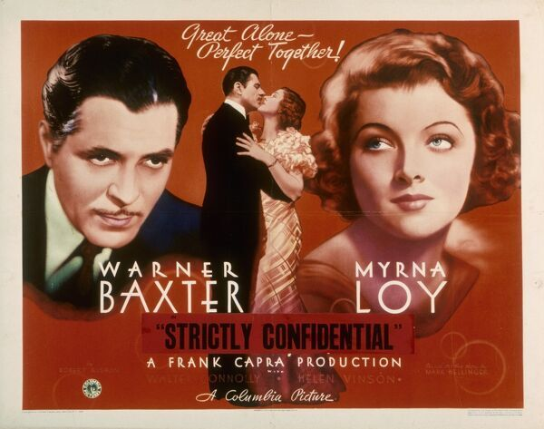 """Great Alone - Perfect Together"" Warner Baxter Myrna Loy AKA Broadway Bill"