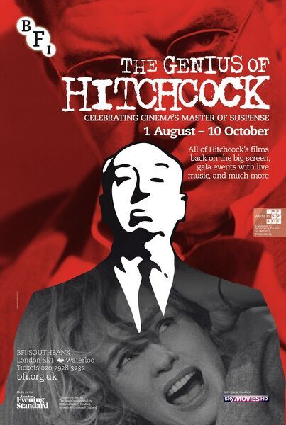 Poster for Genius Of Hitchcock Season at BFI Southbank (1 Aug - 30 Oct 2012)