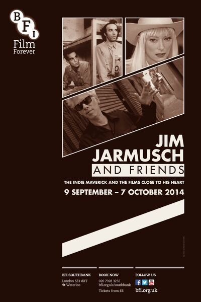 Poster for Jim Jarmusch and Friends Season at BFI Southbank (6 September - 7 October 2014)