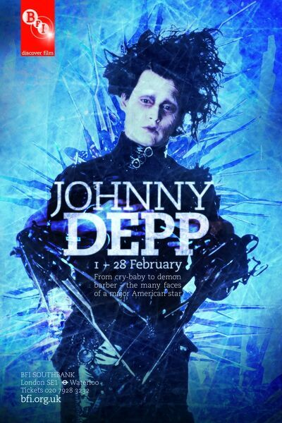 BFI Southbank Poster Johnny Depp Edward Scissorhands