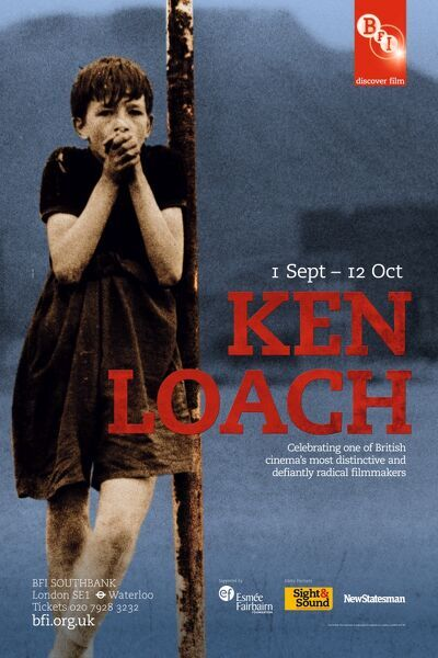 Poster for Ken Loach Season at BFI Southbank (1 Sept - 12 Oct 2011)