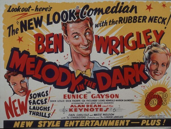 """The New Look Comedian With The Rubber Neck!"" Ben Wrigley Eunice Gayson Dawn Leslie Dick Thorpe Ida Patlanski Lionel Newbold Marion Saunders Alan Dean and the Keynotes Carl Carlisle Masie Weldon The Stardusters The London Lovelies"