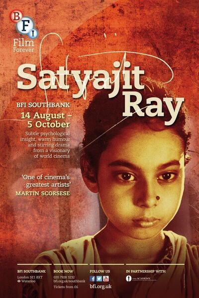 Poster for Satyajit Ray Season at BFI Southbank (14 August - 5 October 2013)