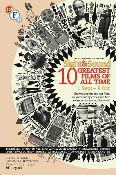 Poster for Sight & Sound Greatest Films Of All Time Season at BFI Southbank (1 Sep - 9 Oct 2012)